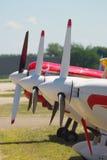 Drie Vliegtuigen Royalty-vrije Stock Foto's