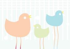 Drie vogels Royalty-vrije Stock Afbeelding