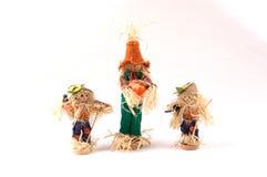 Drie Vogelverschrikkers Royalty-vrije Stock Afbeelding