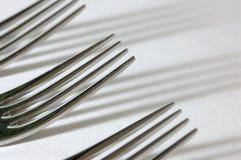 Drie vorken Stock Afbeeldingen
