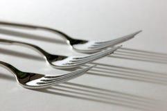 Drie vorken Royalty-vrije Stock Afbeelding