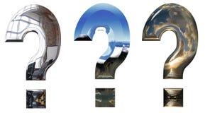 Drie vraagtekens Royalty-vrije Stock Foto's