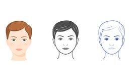 Drie vrouwengezichten Stock Afbeelding