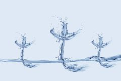 Drie Waterkruisen Stock Foto's