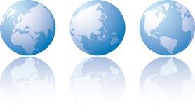 Drie wereldmeningen Stock Foto