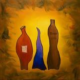 Drie wijnen Stock Foto's
