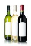 Drie wijnflessen Royalty-vrije Stock Foto