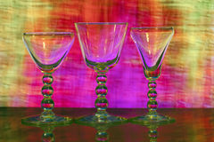 Drie wijnglazen Royalty-vrije Stock Foto