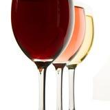 Drie wijnglazen Royalty-vrije Stock Foto's