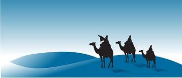 Drie wijs-mensen Stock Foto