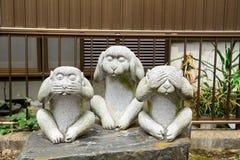 Drie wijze apen, Tokyo, Japan Stock Afbeeldingen