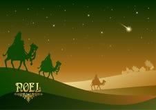 Drie Wijzen bezoeken Jesus Christ na Zijn geboorte Royalty-vrije Stock Fotografie