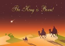 Drie Wijzen bezoeken Jesus Christ na Zijn geboorte Stock Foto's