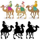 Drie Wijzen op Wit Royalty-vrije Stock Afbeeldingen