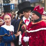 Drie Wijzen paraderen Royalty-vrije Stock Afbeeldingen
