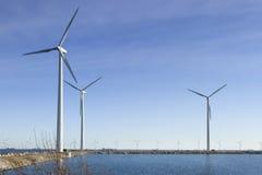 Drie Windmolens in Kopenhagen Denemarken Stock Afbeelding