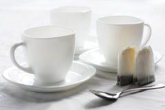 Drie witte koppen. Royalty-vrije Stock Fotografie