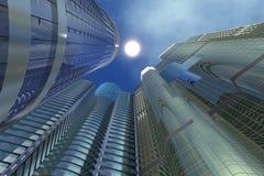 Drie Wolkenkrabbers Stock Afbeelding