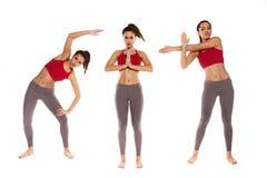 Drie yogaposities stock afbeelding