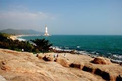 Drie zagen standbeeld van Kwan -kwan-yin onder ogen Royalty-vrije Stock Foto