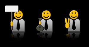 Drie zakenlieden Royalty-vrije Stock Afbeelding
