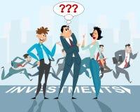 Drie zakenliedenbespreking stock illustratie