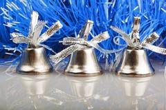Drie zilveren klokken Stock Afbeelding