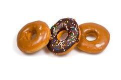 Drie zoete doughnuts Royalty-vrije Stock Afbeelding