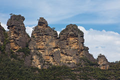 Drie Zusters in de Blauwe Bergen, Australië Stock Afbeelding