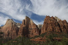 Drie Zusters - Zion National Park royalty-vrije stock afbeelding