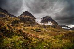 Drie Zustersvorming, Glencoe, Schotland Royalty-vrije Stock Afbeelding