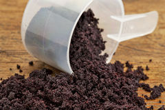 Dried acai berry powder Stock Image