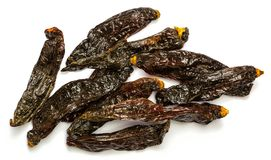 Aji panca. Dried aji panca peppers from Peru, South America Stock Photography