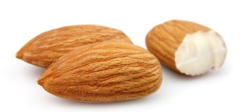 Dried almonds Royalty Free Stock Images