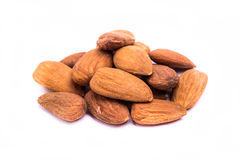 Dried almonds fruit Royalty Free Stock Photos