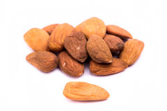 Dried almonds fruit Stock Images