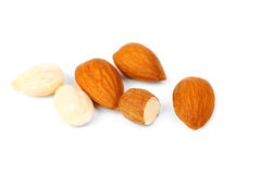 Dried almonds Stock Photo