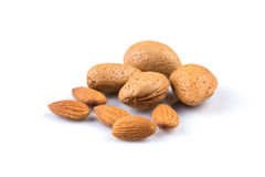 Dried almonds Stock Image