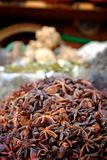 Dried anise at the spice market Stock Image