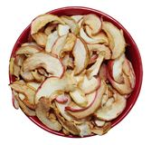 Dried apples in the plate royalty free stock photos