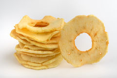 Dried apple chips Stock Images