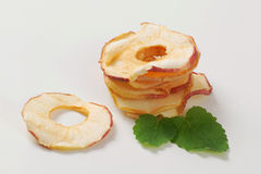 Dried apple chips Royalty Free Stock Photo