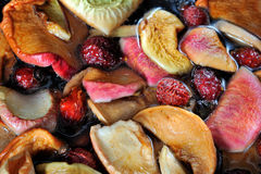 Dried apple, pear, rose, apricots Royalty Free Stock Images