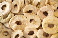 Dried apple rings Royalty Free Stock Image