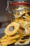 Dried Apple Rings in a Jar Stock Photos