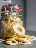 Dried Apple Rings in a Jar Royalty Free Stock Photography