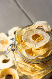 Dried Apple Rings in a Jar Stock Image