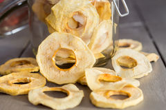 Dried Apple Rings in a Jar Royalty Free Stock Images