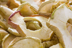 Dried apple rings with skin Stock Photography