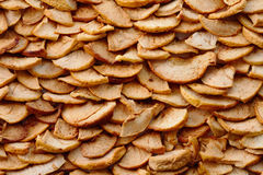 Dried Apples Background Stock Images